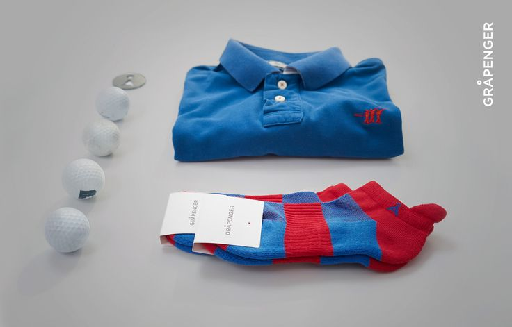 Golf Socks | GRÅPENGER #golf #socks #red #blue #balls #grapenger