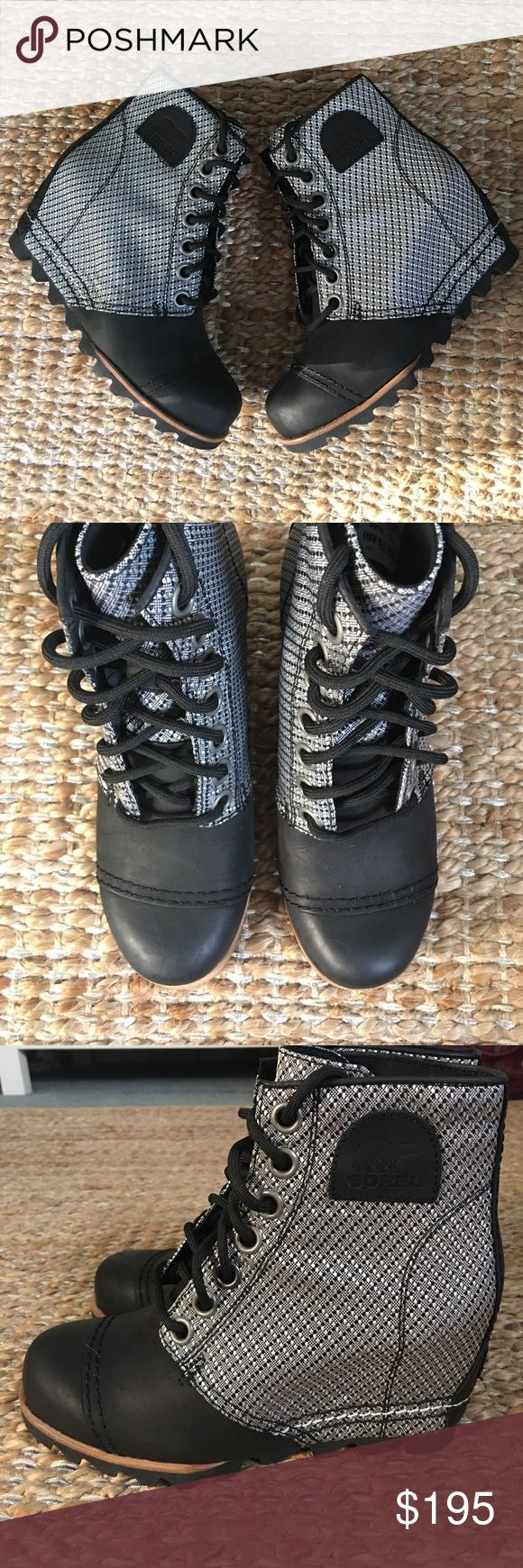 Sorel Wedge Boots Gorgeous, brand new without tags, never worn, Sorel boots. These boots are so versatile and SUPER comfortable. These are a must have in every closet! Sorel Shoes Lace Up Boots