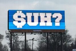 When the Detroit Lions declined using the franchise tag on star defensive tackle Ndamukong Suh, a group of Detroit investors decided to act during what might be Suh's final week in Detroit. Digital billboards throughout Metro Detroit and Grand Rapids markets went live with the simple message $UH?. In a matter of hours, the $UH billboard saturated Print, Radio and Television coverage in Detroit.  Additionally, Metro Detroiters jumped on the story through Local & Social Media.