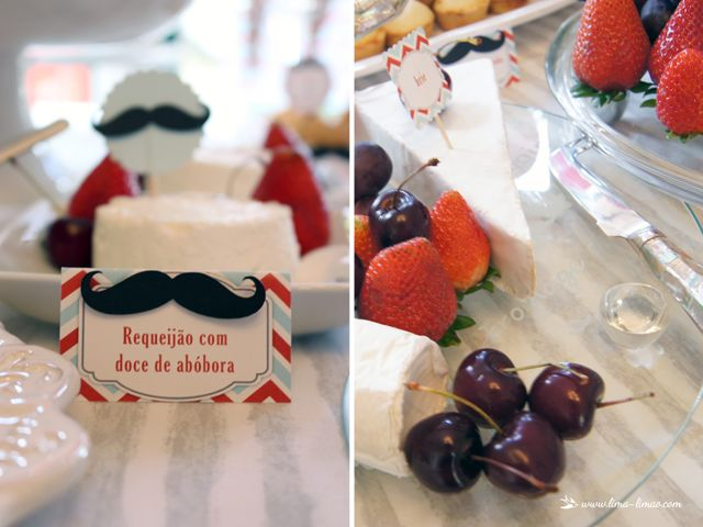 cheese table for this moustache/man themed party