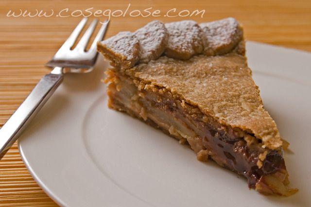 Una crostata dal sapore di autunno: castagne, pere e cioccolato. Crostata di castagne con pere e cioccolato http://www.gennarino.org/wordpress2/crostata-di-castagne-con-pere-e-cioccolato/