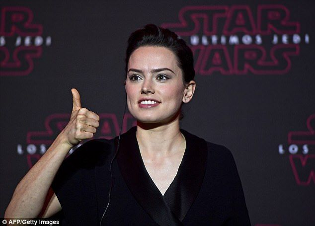 Thumbs up: Daisy promised major developments for her character Rey in the upcoming movie ...