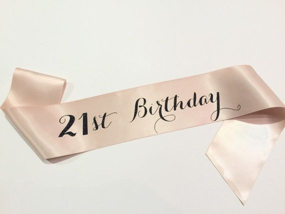 21st Birthday Sash Finally 21 Twenty First by ShadesOfPinkBtq