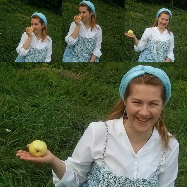 Фотосессия для Анны Гладневой-Красновой. Русское бохо. Яблочный спас.  #фотосессия #костюм #бохошик #русскоебохо #яблоки #яблочныйспас  #сарафан #яблокивсаду #сад #русская