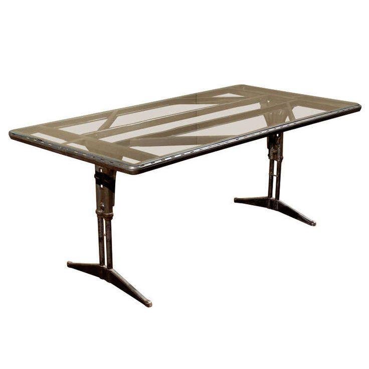 Industrial Folding Table | From a unique collection of antique and modern desks and writing tables at https://www.1stdibs.com/furniture/tables/desks-writing-tables/