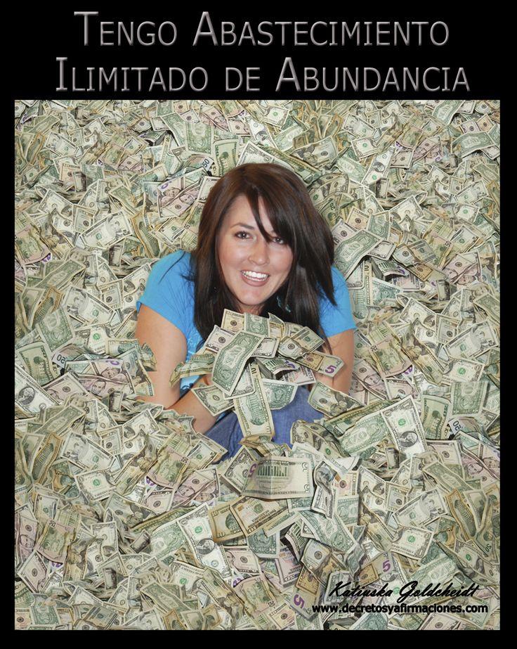 YO SOY ILIMITADA EN ABUNDANCIA. Yo Soy la Ilimitada Opulencia de Abundancia  en este eterno presente. Mi cartera vive llena con la provisión ilimitada del dinero que necesito... leer más en http://decretosyafirmaciones.com/yo-soy-ilimitada-en-abundancia/