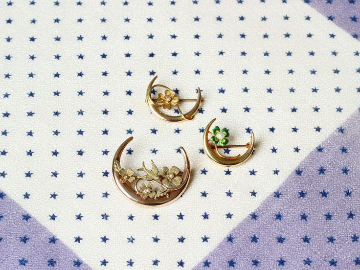 Honeymoon pin / Antique brooch