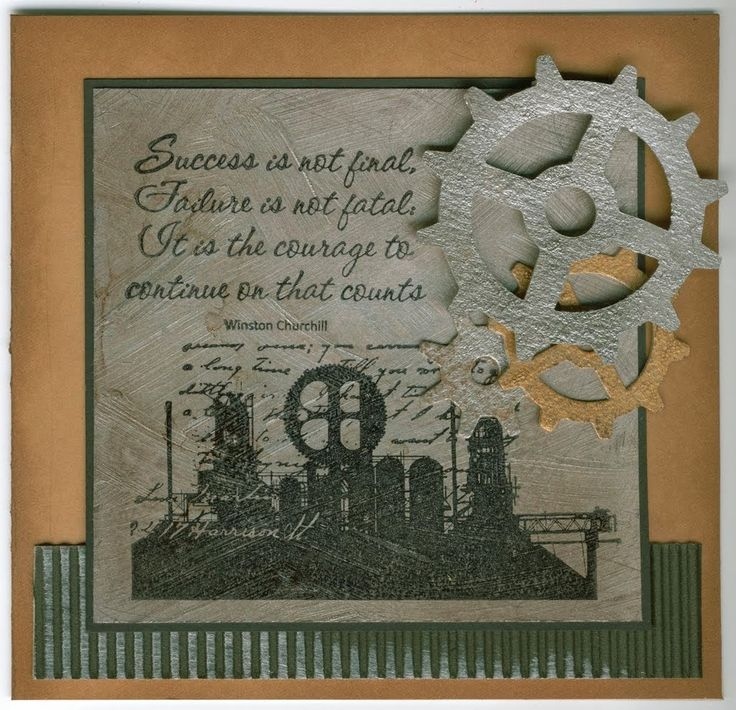 Industrial 4212F, Courage 4498D: Stamp-it Australia. Card by Susan of Art Attic Studio