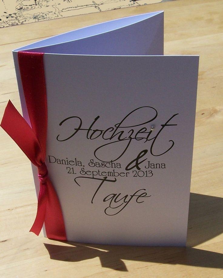 Hochzeit Und Taufe Einladung Zur Traufe Einladung