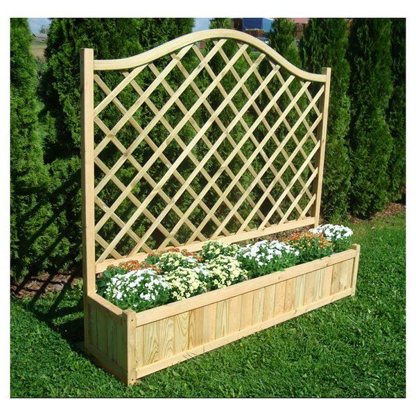 Made Out Of High Quality Pressure Treated Soft Wood Timber The Timber Rectangular Planter Latt Planter Trellis Rectangular Planters Planter Box With Trellis