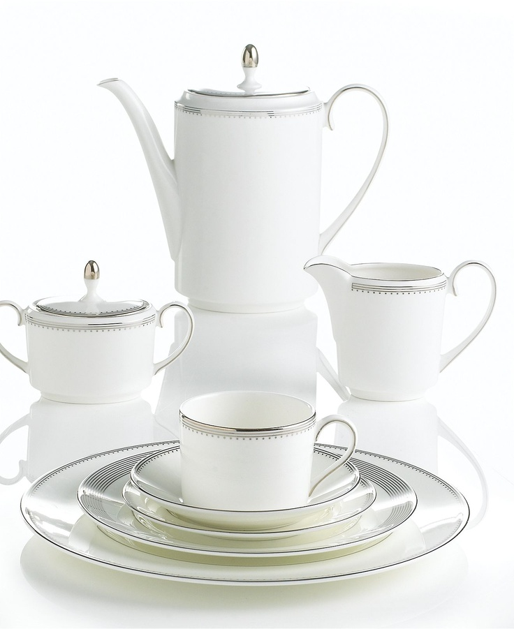 Vera Wang Wedgwood Dinnerware, Grosgrain Collection - Fine China - Dining & Entertaining - Macy's