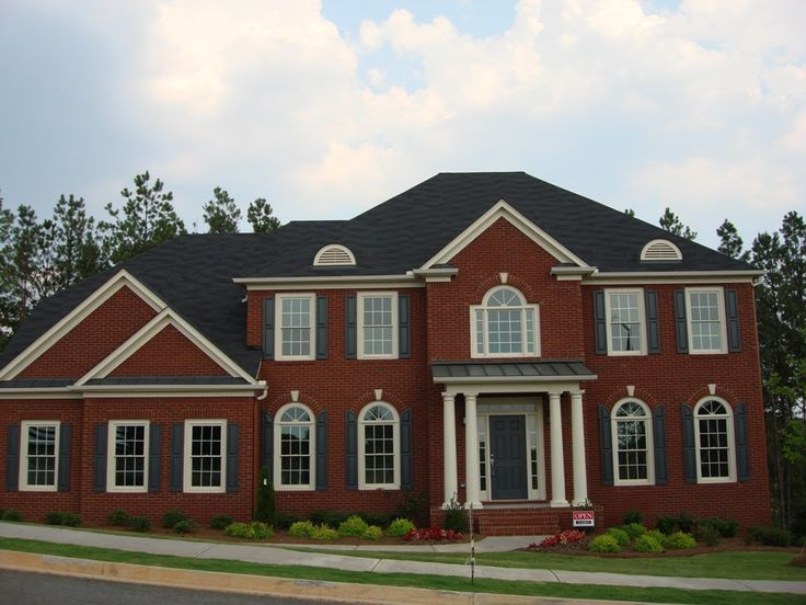 Best Red Brick House With Black Roof And Black Shutters Home 640 x 480
