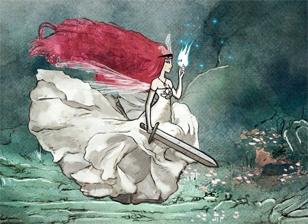 child of light aurora adult | CHILD OF LIGHT / VIDEO GAME / MAIN CHARACTER DESIGN