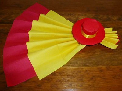 Pliage de serviette de table en forme d'éventail avec son sombrero, réaliser un éventail avec une serviette en papier, l'art du pliage de serviettes de table, decoration de table, recettes de cuisine et traditions en Europe. Information et Tourisme Européen.