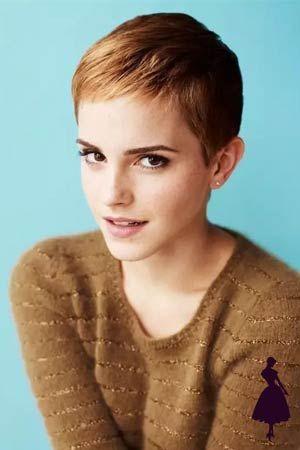 Pelo corto: famosas que lo han usado y se han visto increíbles Emma Watson Linda, Emma Watson Pixie, Emma Watson Short Hair, Curly Pixie Hairstyles, Hairstyles For Gowns, Pixie Haircut, Very Short Hair, Short Hair Cuts, Short Hair Styles