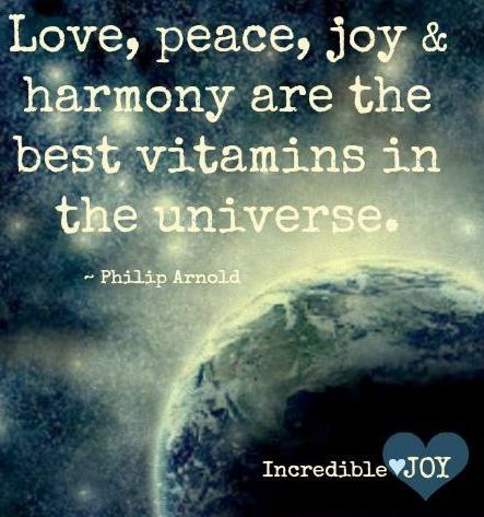 Peace and harmony quote via www.Facebook.com/IncredibleJoy