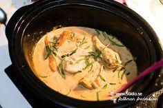 Crock Pot kyckling med senap och dragonsås