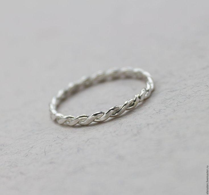 """Купить Тонкое серебряное кольцо , серебряное кольцо """"Jesika"""" - серебряный, серебро, серебряное, кольцо, минимализм"""