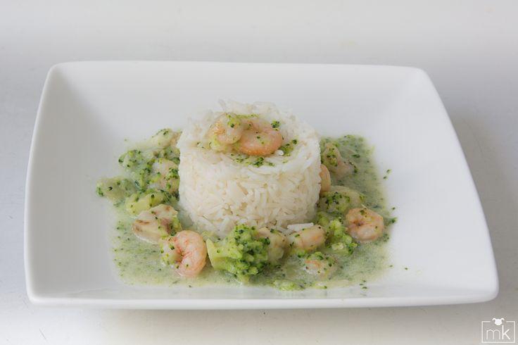 Wok de gambas y brócoli con jenjibre (3)