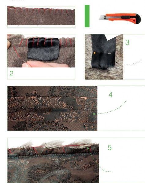 как сшить жилет из меха