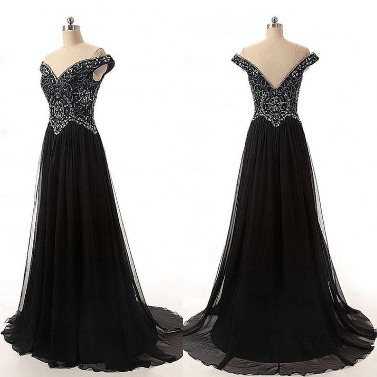 Bg1247 Charming Prom Dress,Off Shoulder Prom Dress,Black Evening