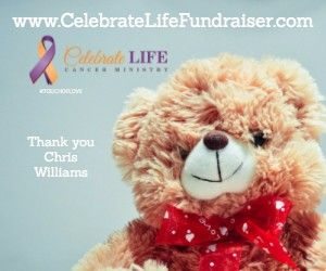 Thank you Chris Williams! We are up to 47%! You can give here! http://CelebrateLifeFundraiser.com?utm_content=bufferf1c66&utm_medium=social&utm_source=pinterest.com&utm_campaign=buffer