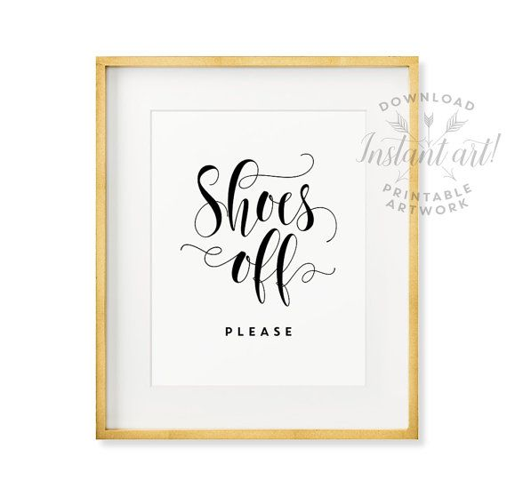 Shoes off sign PRINTABLE art,take shoes off please,mud room art,take off your shoes,remove shoes printable,entry room art,instant download