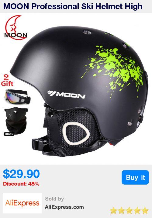 MOON Professional Ski Helmet High Quality Women Men Skiing Helmet Ultralight Ski Snowboard Skateboard Helmet 52-64CM * Pub Date: 11:03 Sep 19 2017