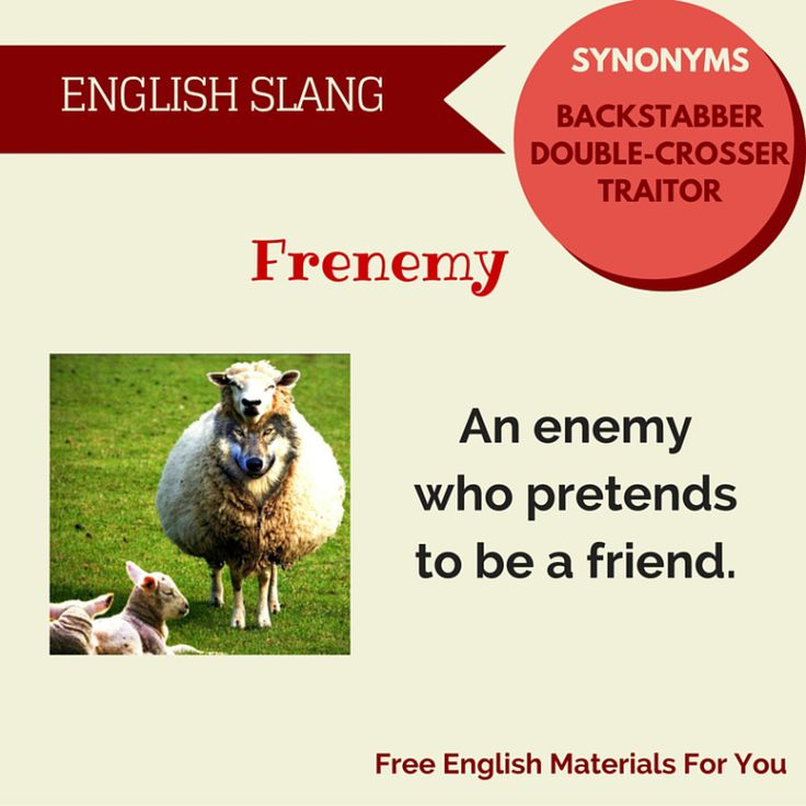 #Meaning of #frenemy - #English vocabulary slang- Free English Materials For You - #femfy
