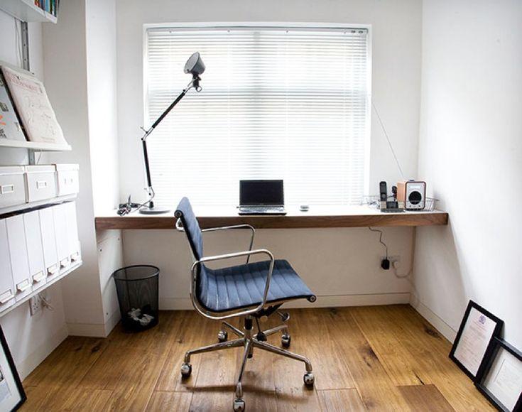 【シンプルで心地良い空間】書斎の作り付けカウンター | 住宅デザイン