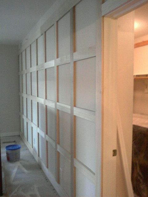 This is a wall of paneling I installed in a condominium in the Broadripple area. The attached drawing was provided by the client. The image ...