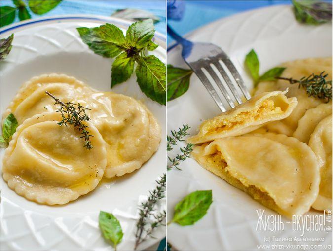 равиоли с тыквой, как приготовить равиоли, равиоли с тыквой и творогом рецепт приготовления