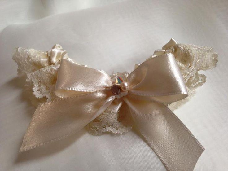 Lace garter.