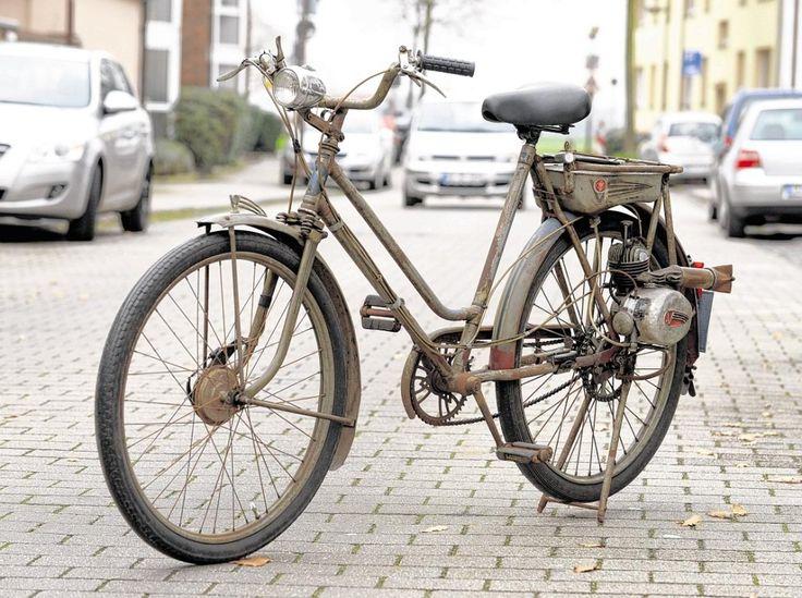 Fahrrad Victoria Typ FM 38 mit Hilfsmotor aus dem Jahr 1951.