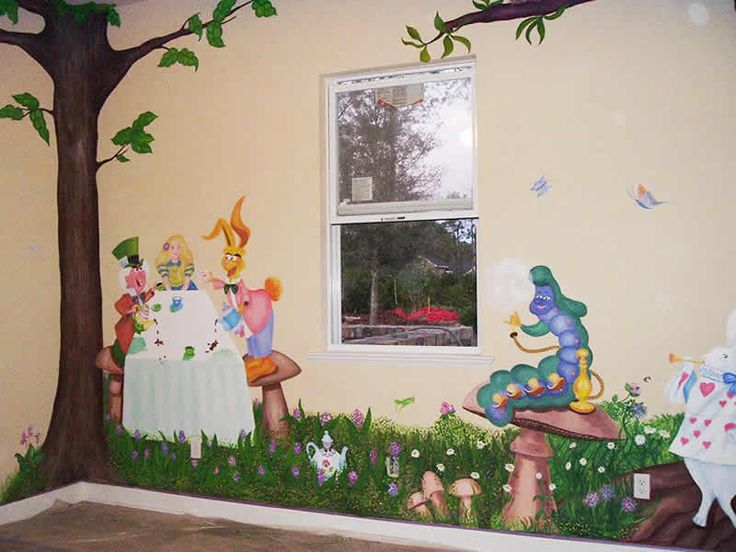Alice In Wonderland Wall Art 28+ [ alice in wonderland wall mural ] | alice in wonderland wall