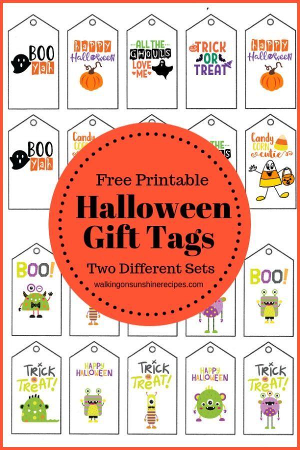 Printable Halloween Gift Tags Walking On Sunshine Recipes Printable Halloween Tags Halloween Treat Tags Halloween Bags