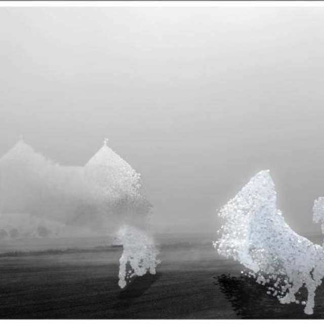 The white horses. I try to explain mum what is the difference between matte painting, 3D and illustration.