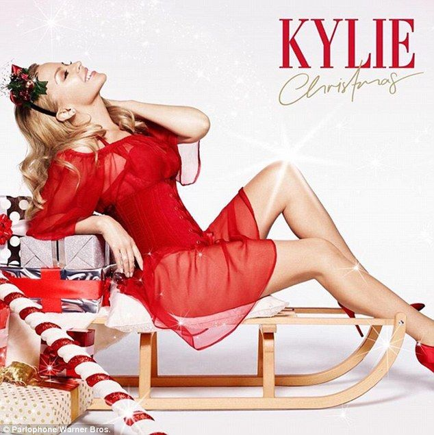 Coming soon: With the festive season almost upon us Kylie Minogue has unveiled the cover a...