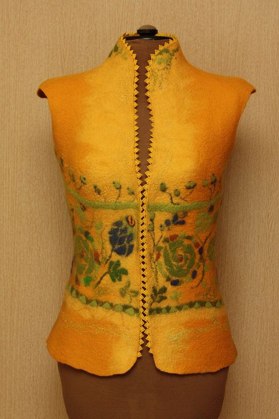 Sunny soul / Felted Clothing / Vest by LubaV