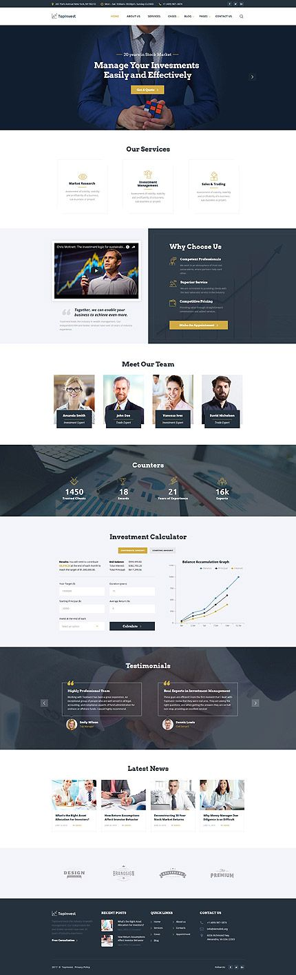 Business  website inspirations at your coffee break? Browse for more Bootstrap #templates! // Regular price: $75 // Sources available: .HTML,  .PSD #Business  #Manage #Invest #LastAdded #Bootstrap