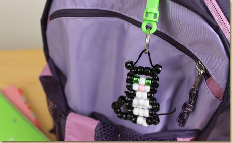 Bead Pet Kitten Backpack Clip - step by step photo tutorial