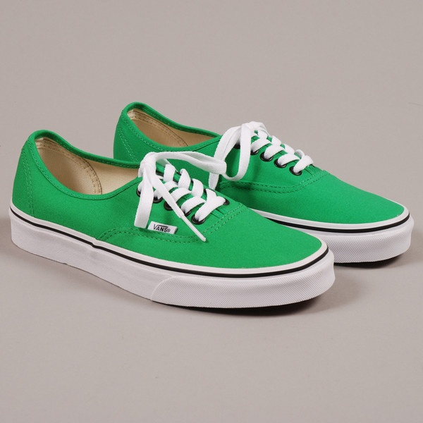 Vans Authentic - Bright Green/Black ($73) ❤ liked on Polyvore
