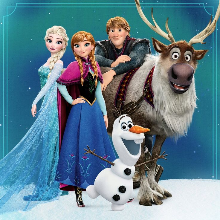 Elsa anna kristoff olaf and sven frozen journey to - Frozen anna and olaf ...