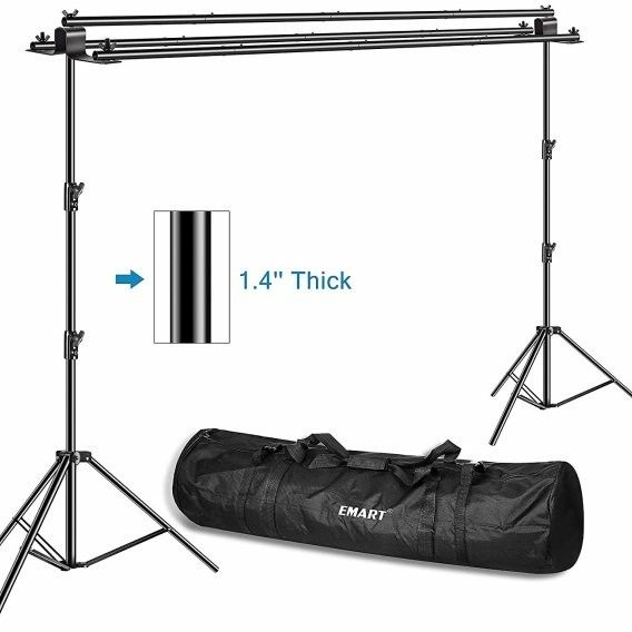 Emart Triple Crossbar 10 Ft Wide 8 5 Ft Height Backdrop Stand Backdrop Stand Backdrops Backgrounds Backdrop Frame