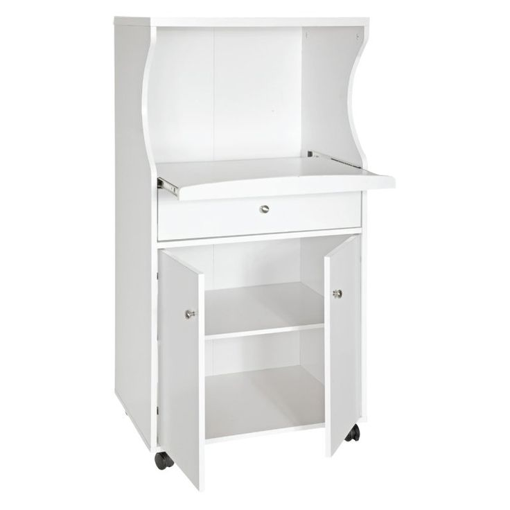 looking for a baker's rack or microwave stand & a microwave - Have to have it. Home Source Portable Microwave Cart $159.99