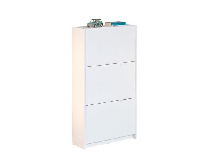 JUSTIN Skoskåp 120 Vit i gruppen Inomhus / Förvaring / Hallmöbler hos Furniturebox (100-52-68753)