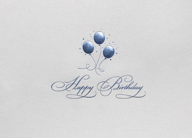 The 11 best birthday cards images on pinterest anniversary cards simply stated a trio of blue foil balloons says it all on shiny silver stock blue balloonsfoil balloonsbirthdays card shopcorporate colourmoves