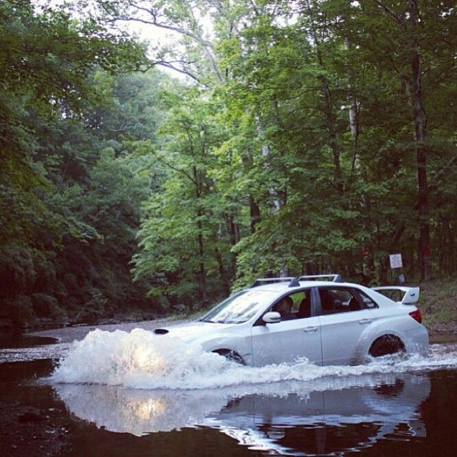 Subaru Wrx Plowing Through Water Like A Beast!