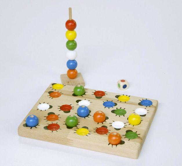 Brettspiele - Kribbel-Krabbel-Käferchenspiel - ein Designerstück von Woodpaecker bei DaWanda