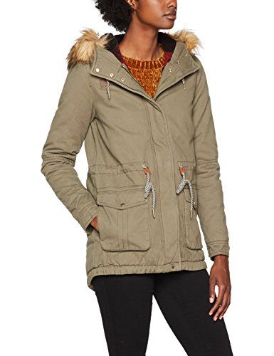 4b48d26aa Only Onlolivia Parka Coat Otw Mujer Verde (Tarmac Checks:Black ...